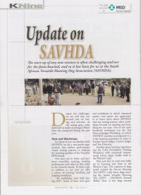 SAVHDA Update in Wingshooters Mag